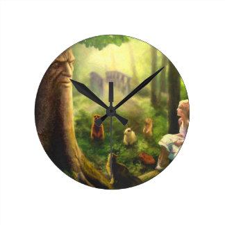 Reloj Redondo Mediano Cuentos del árbol susurrante