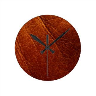Reloj Redondo Mediano Cuero