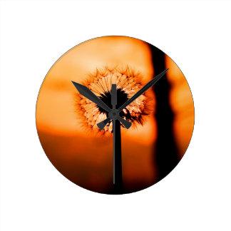Reloj Redondo Mediano Dandelion Flower (Diente de León)