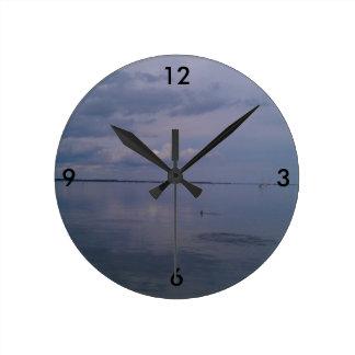 Reloj Redondo Mediano Delfínes de río pacíficos