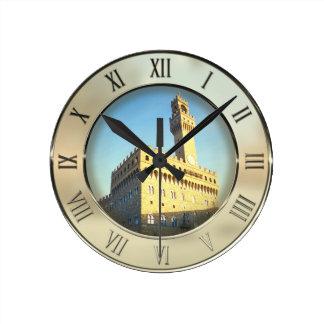 Reloj Redondo Mediano Della Signoria, Florencia, Italia de la plaza