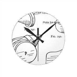 Reloj Redondo Mediano Diagrama esquemático del fuego artificial del