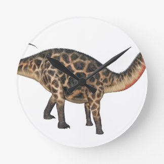 Reloj Redondo Mediano Dicraeosaurus en perfil lateral