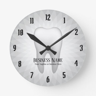 Reloj Redondo Mediano Diente blanco moderno del cuidado dental de la