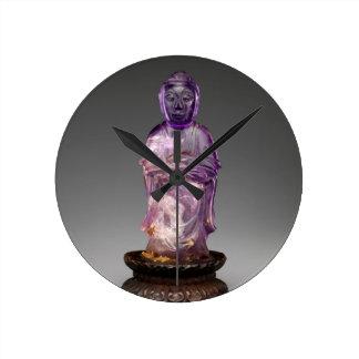 Reloj Redondo Mediano Dinastía asentada de Buda - de Qing (1644-1911)