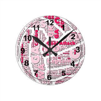 Reloj Redondo Mediano Diseño de la bola de las posiciones del Netball