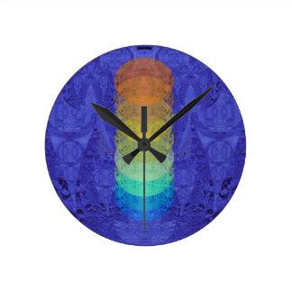 Reloj Redondo Mediano Diseño de la tapicería de Chakra de la yoga