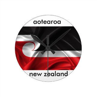 Reloj Redondo Mediano diseño de Nueva Zelanda del aotearoa