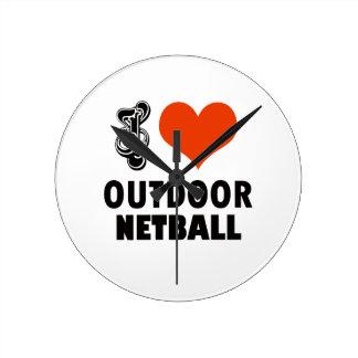 Reloj Redondo Mediano Diseño del Netball