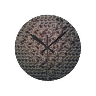 Reloj Redondo Mediano Diseño tejido del corazón