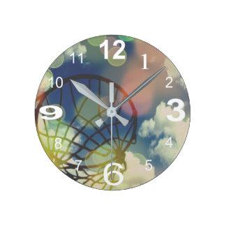 Reloj Redondo Mediano Diseño temático de la impresión de la imagen del