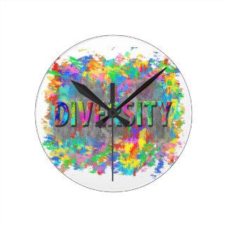 Reloj Redondo Mediano Diversidad