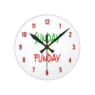 Reloj Redondo Mediano Domingo es Funday