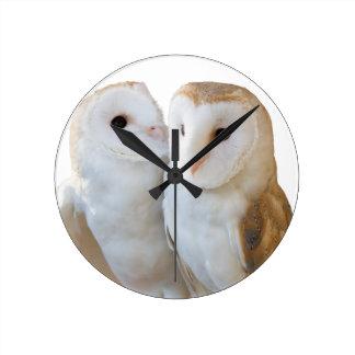 Reloj Redondo Mediano dos amigos de los búhos