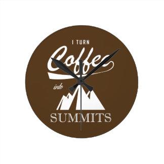 Reloj Redondo Mediano Doy vuelta al café en cumbres