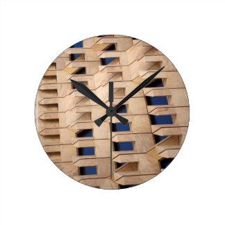 Reloj Redondo Mediano Edificio abstracto