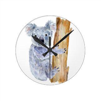 Reloj Redondo Mediano Ejemplo de la koala de la acuarela