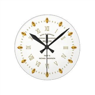Reloj Redondo Mediano El 30 40 45 50 55 60.os elegante casan