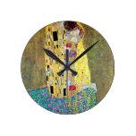 Reloj Redondo Mediano El beso (original Der Kuss) de Gustav Klimt