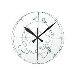 Reloj Redondo Mediano El blanco Polo Norte AE traza