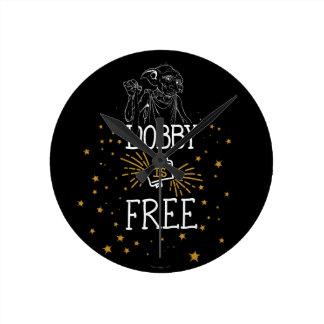 Reloj Redondo Mediano El Dobby de Harry Potter el | está libre