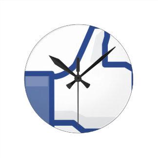 Reloj Redondo Mediano ¡el facebook TIENE GUSTO de mí de manosear con los