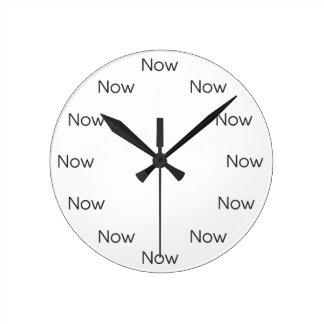 Reloj Redondo Mediano El Now es Zen™ - budista del Taoist del