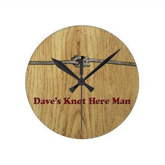 Reloj Redondo Mediano El nudo de Dave aquí sirve - Multi-Productos