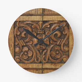 Reloj Redondo Mediano el panel de madera