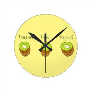 Reloj Redondo Mediano El trío del kiwi