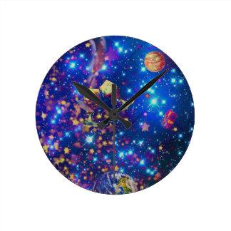 Reloj Redondo Mediano El universo y los planetas celebran vida con un