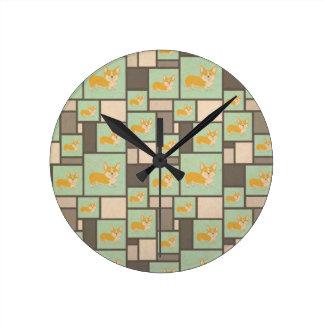 Reloj Redondo Mediano Embalaje del papel de regalo de Kraft del Corgi