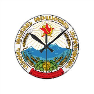 Reloj Redondo Mediano Emblema de la república socialista soviética
