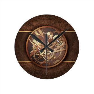 Reloj Redondo Mediano engranajes del steampunk