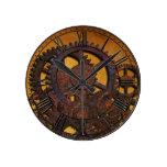 Reloj Redondo Mediano Engranajes oxidados de Steampunk