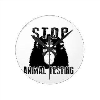Reloj Redondo Mediano Ensayos con animales de la parada - chimpancé