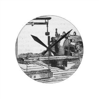 Reloj Redondo Mediano Ephemeras antiguas del vintage de la herramienta