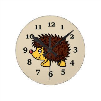 Reloj Redondo Mediano Erizo del dibujo animado
