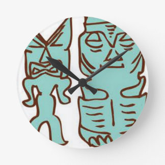 Reloj Redondo Mediano ¡Es tiempo de Tiki!