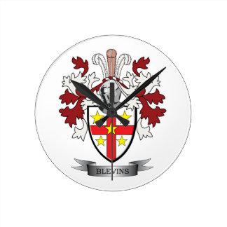 Reloj Redondo Mediano Escudo de armas del escudo de la familia de