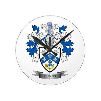 Reloj Redondo Mediano Escudo de armas del escudo de la familia de las