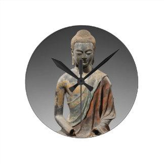 Reloj Redondo Mediano Escultura decolorada de Buda - dinastía Tang (618)