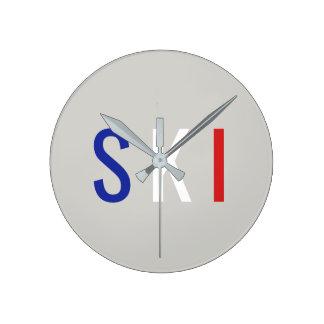 Reloj Redondo Mediano Esquí