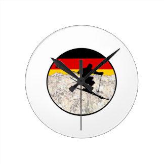 Reloj Redondo Mediano Esquí Alemania