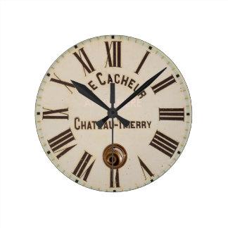 Reloj Redondo Mediano Estilo capturado envejecido obra clásica de LE