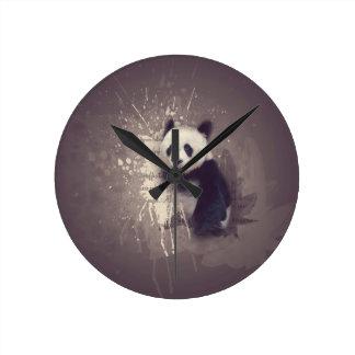 Reloj Redondo Mediano Extracto lindo de la panda