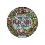 Reloj Redondo Mediano Extractos de frutal florales victorianos
