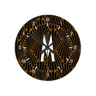 Reloj Redondo Mediano fans del Finial del negro del art déco de los años