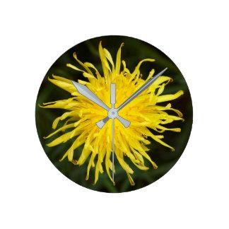 Reloj Redondo Mediano Flor del diente de león