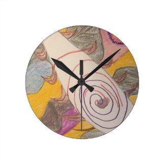 Reloj Redondo Mediano Flotación en el vacío del arco iris